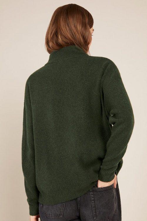 Grønn, blå og light grey ullmiks pologenser American Vintage - dam 227