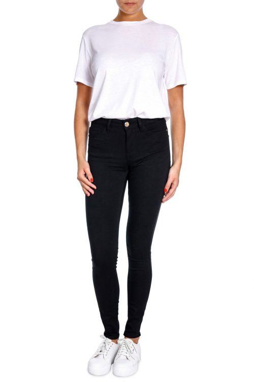 Smal sort jeans high waist i nydelig stretch Mos Mosh - 129760 alli core jeans