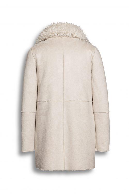 Krem eller sort fake saueskinnsjakke som er vendbar Beaumont Amsterdam - bm55.20.193