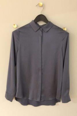 Dueblå silkeskjorte One & Other - audrey silk 95 silke/5el