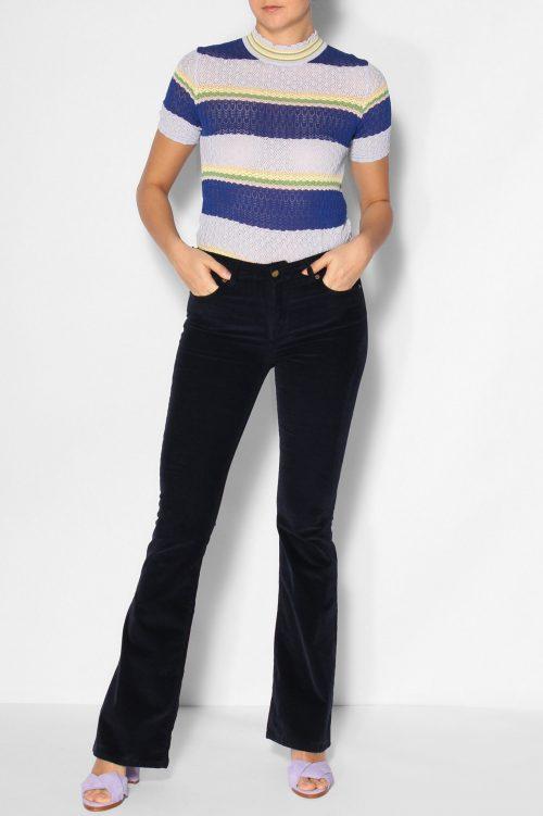 Marine, sjokolade eller sort microcord flare bukse Lois Jeans - raval 2007-5987 micro beat L32/L34