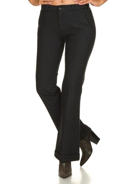 Gråskimret dressbukse med oppbrett og skrålommer Lois Jeans - silvia L32/L34