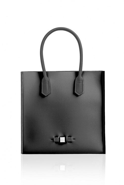 Shopper 'Le Sac' i mange farger. Laget av neopren og veier ingenting Save My Bag - Le Sac NERO