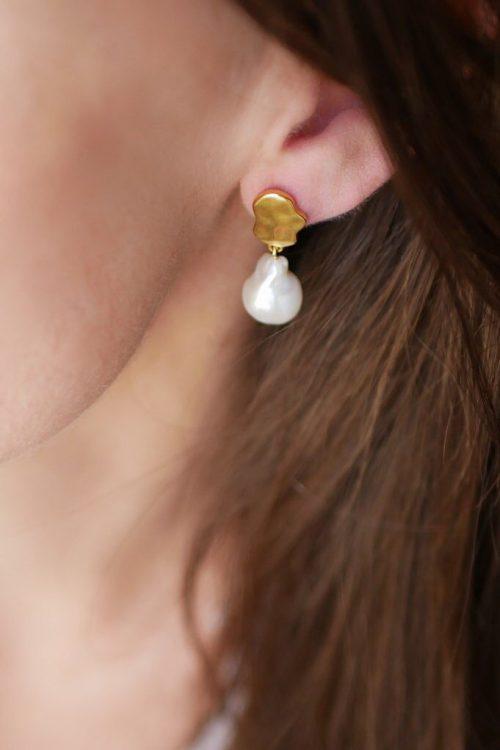 Øredobb 'Alua' i gullforgylt Sterling sølv Enamel Copenhagen - earring alua