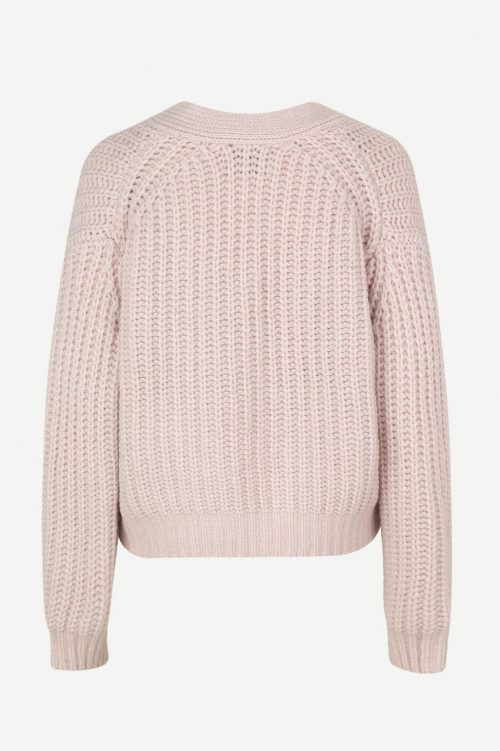 Dus rosa ribbestrikket cardigan Samsøe - 11139 hal cardigan