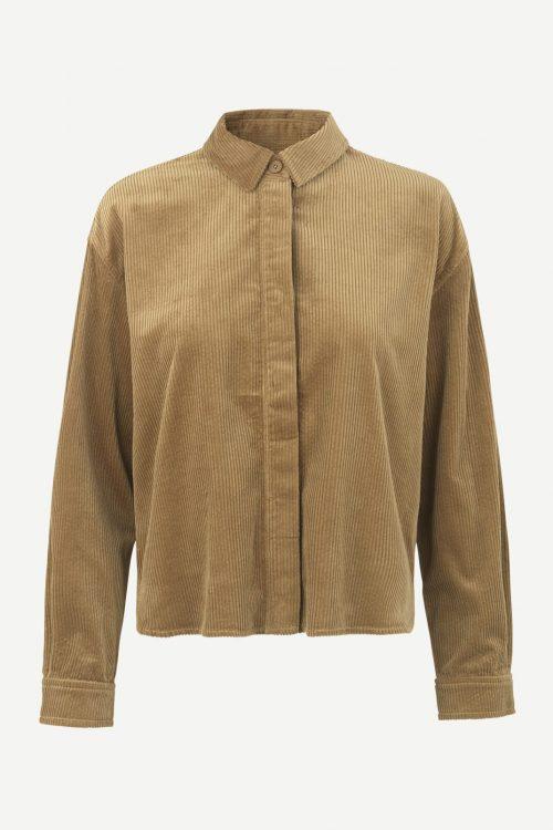 Blå eller camel cordskjorte Samsøe - 11153 kelly overshirt