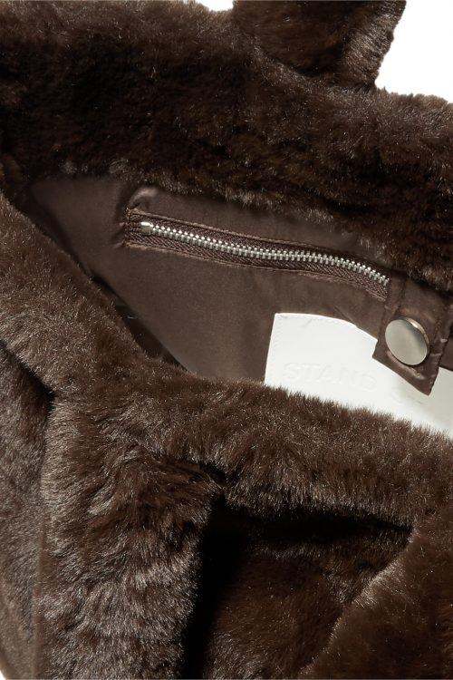Brun stor 'mink'-bag Stand Studio - lola bag 60768-8780