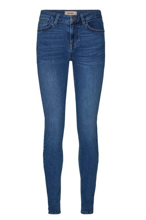 Blue denim eller sort smal jeans high waist i nydelig stretch Mos Mosh - 129770 alli core jeans