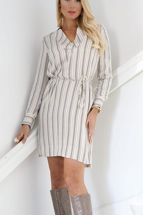Stripet viskose kjole Mos Mosh - 132281 lipa river dress
