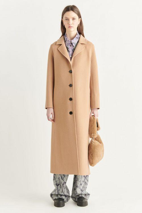 Camel ullkåpe Stand Studio - paloma coat