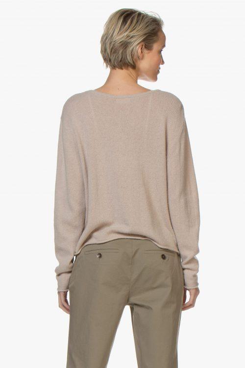 Beige eller dus rosa genser med knapper American Vintage - biz 220