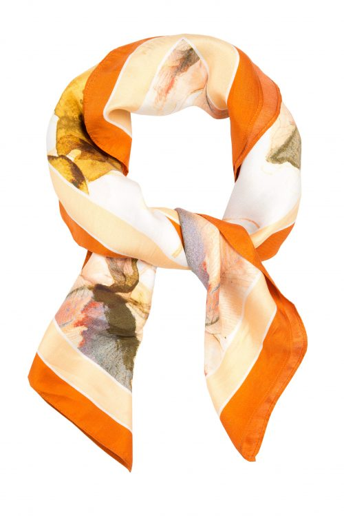 'The artist orange silk scarf' Katrin Uri - 938