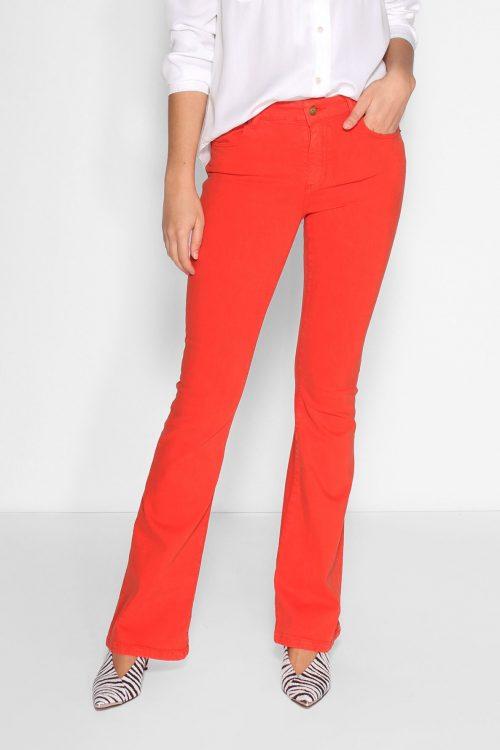 Cayenne rød eller mosegrønn Raval flare bukse Lois Jeans - raval 2007-5991 megalia blush L32 og L34