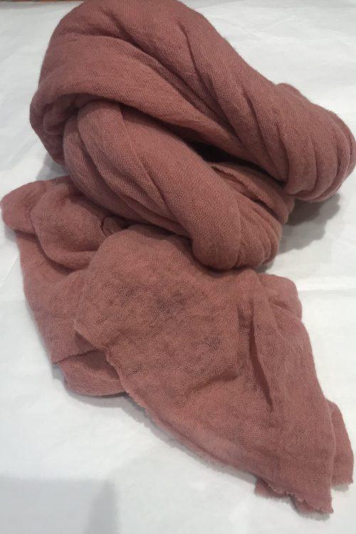 Old pink elastisk og superlett 'Luxury' 100% italiensk cashmere skjerf Natura Cashmere - luxury scarf 100*160 cm