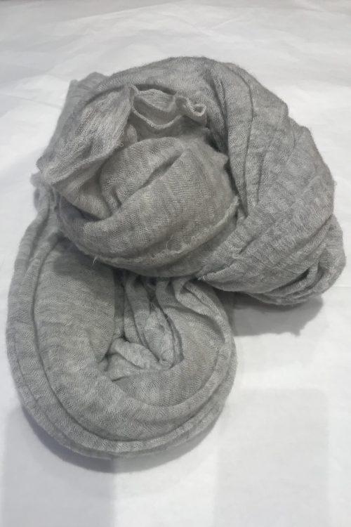 Kalk elastisk og superlett 'Luxury' 100% italiensk cashmere skjerf Natura Cashmere - luxury scarf 100*160 cm