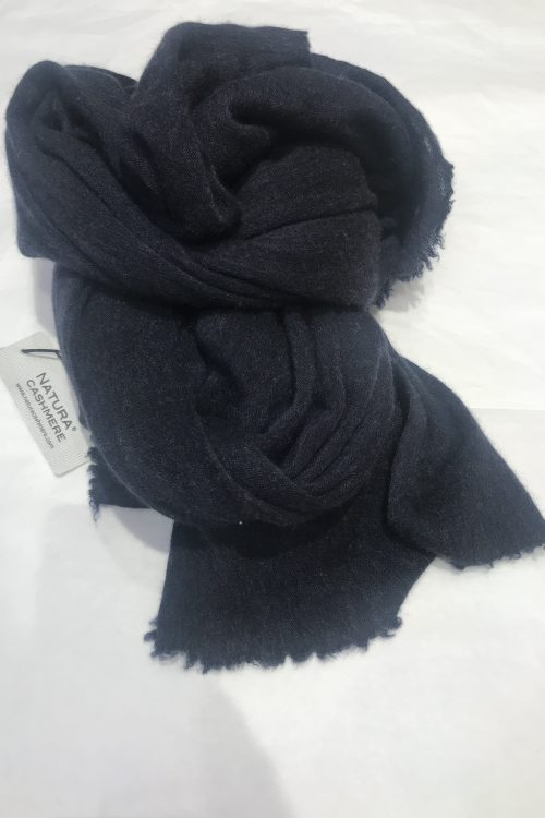 Navy elastisk og superlett 'Luxury' 100% italiensk cashmere skjerf Natura Cashmere - luxury scarf 100*160 cm