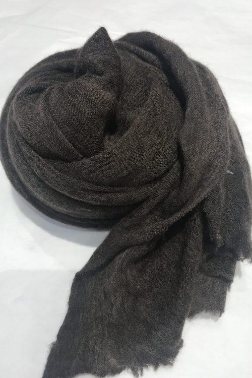 Brown elastisk og superlett 'Luxury' 100% italiensk cashmere skjerf Natura Cashmere - luxury scarf 100*160 cm