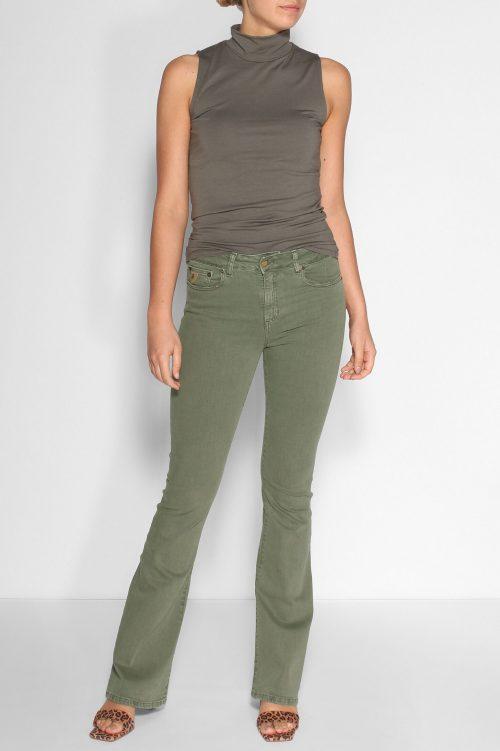 Mosegrønn 'Raval' bomullstwill flare jeans Lois Jeans - raval 2007-5991 megalia blush L32- L34