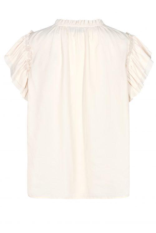 Ecru viskose bluse med volang Mos Mosh - 132890 tea africa blouse