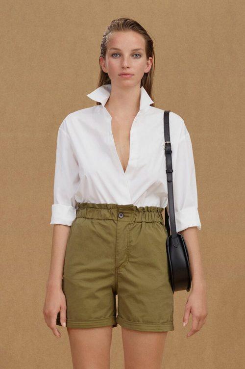 Hvit organisk bomull skjorte Samsøe - 12675 berlinde shirt