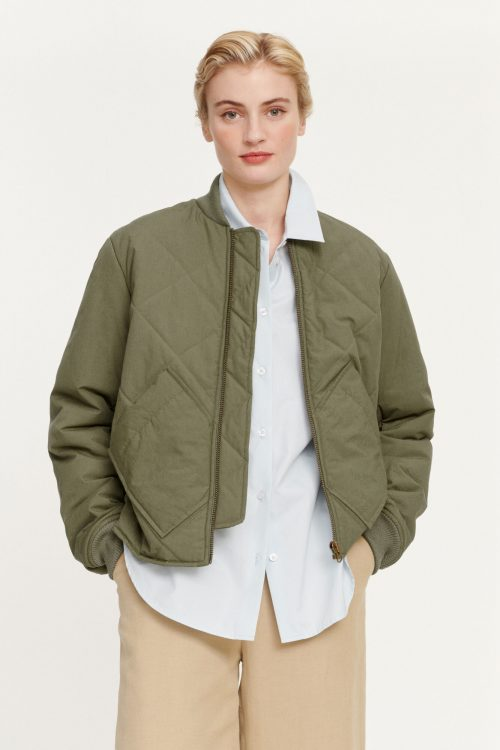 Air khaki bomber jacket Samsøe - 11527 janette jacket
