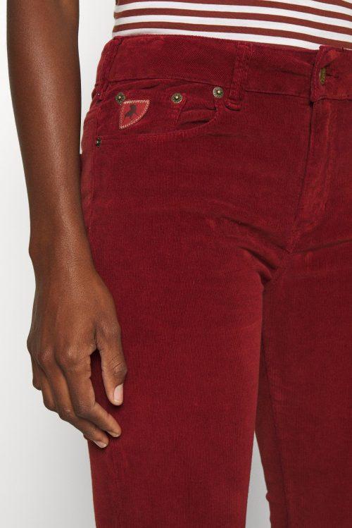 Sort, brun, skoggrønn, dusty rose eller rustrød microcord flare bukse Lois - micro vintage 2007-6200 L30/L32/L34