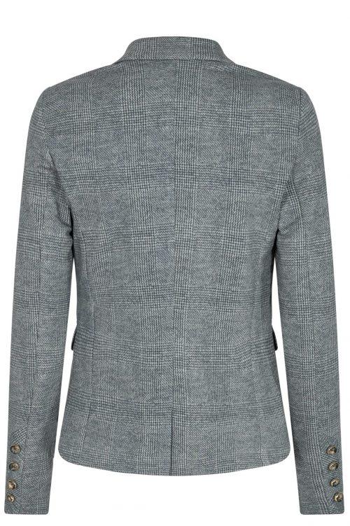 Grårutet jersey jakke Mos Mosh - 135490 Blake Nora Blazer