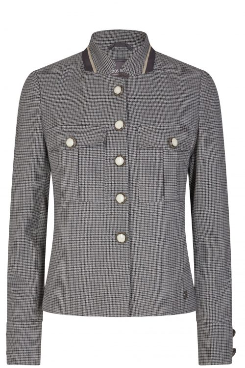 Grårutet jakke med tilhørende dressbukse Mos Mosh - 135560 Selby Hanni Jacket / 135561 Drew Hanni Pant