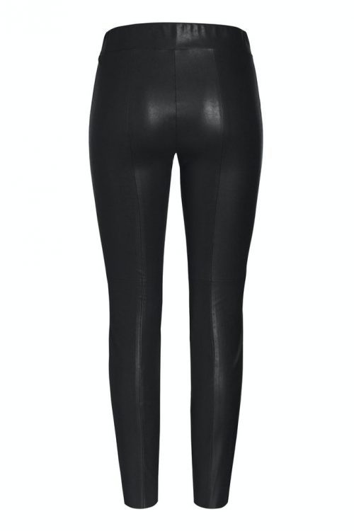 Brun eller sort fake skinnleggings med bomull på innsiden Cambio - 6301 0227-02 randa 31