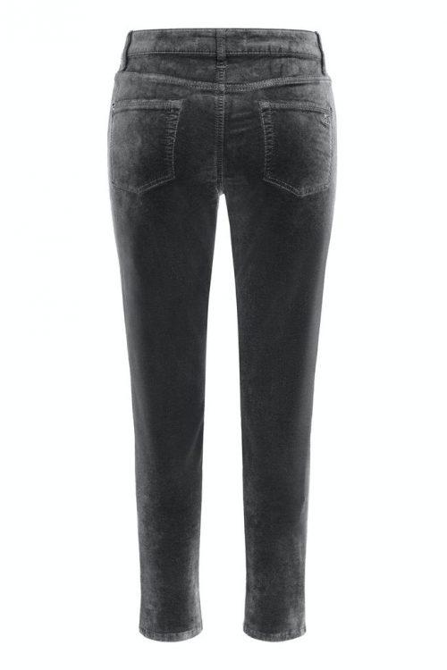 Asfaltgrå velour bukse med plass til lår og legg Cambio - 7139 0029-26 pina 30