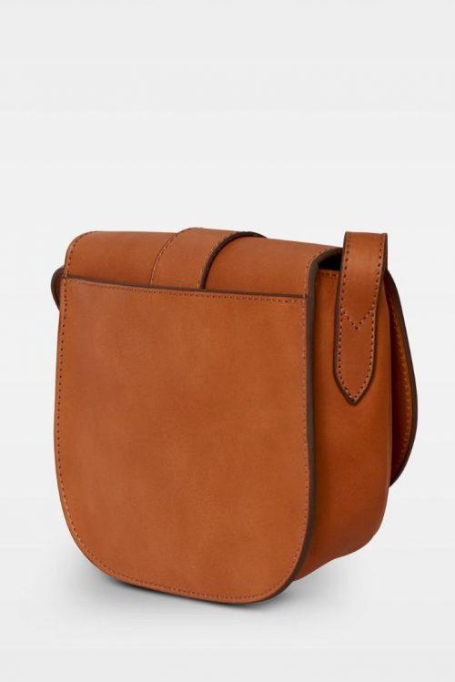 Cognac eller sort iten crossover sadel-veske i vegital skinnkvalitet Decadent Copenhagen - 230 trisha satchel bag