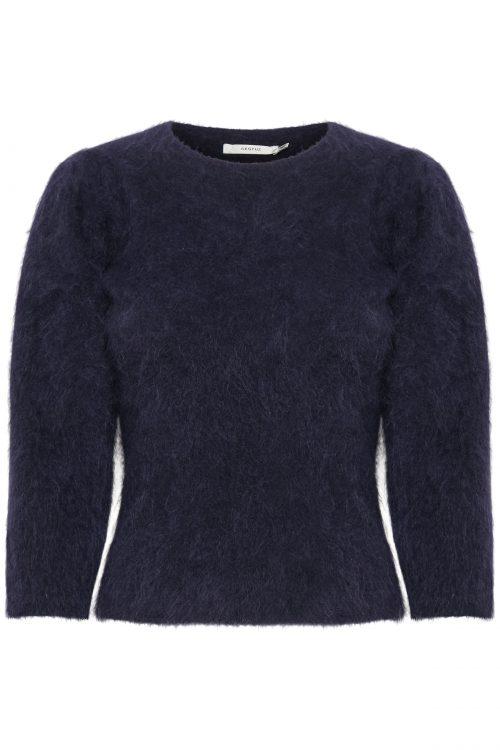 Blå mohairmix genser med 3/4 erm Gestuz - 10904800 jisa pullover