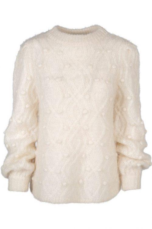 Offwhite mohairmix genser med dots Ella&Il - andrea