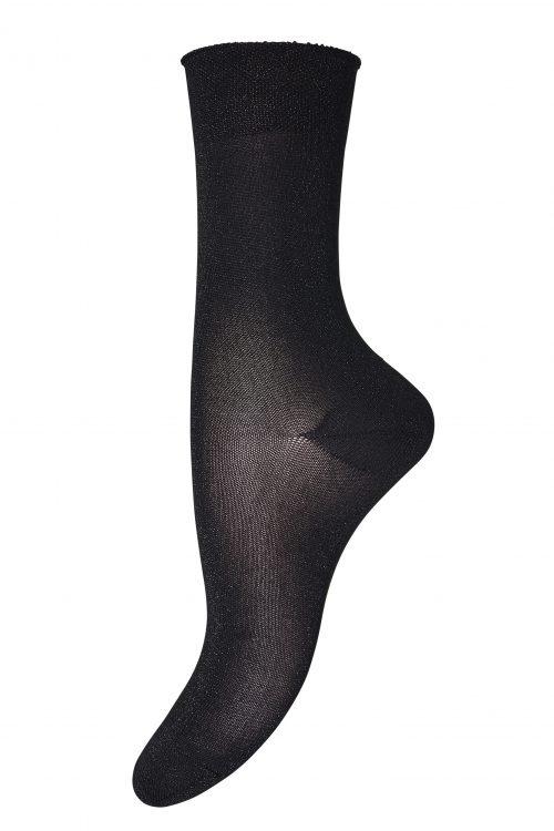 """Brun, orange, sølv eller sort """"Ankle Pernille"""" sokker MP Denmark - pernille 52% Polyamide, 44% Metallic, 4% Elastan"""