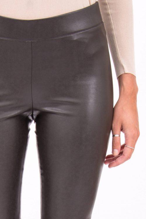 Brun eller sort smal fake skinnleggings Cambio - 6301 0227-02 ramda 31