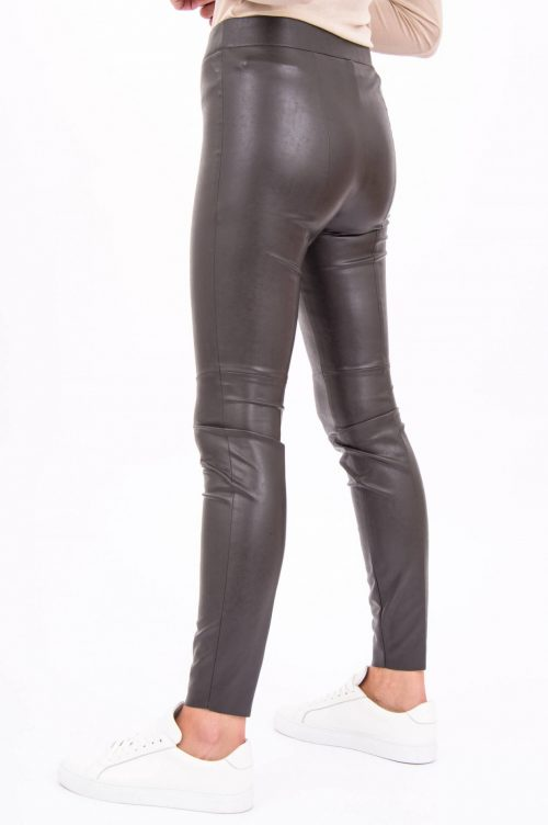Brun eller sort smal fake skinnleggings Cambio - 6301 0227-02 ramda 31