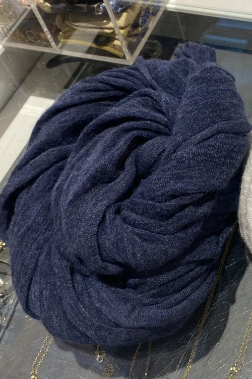 Navy blue cashmere skjerf Natura Cashmere - luxury 2054 navy blue