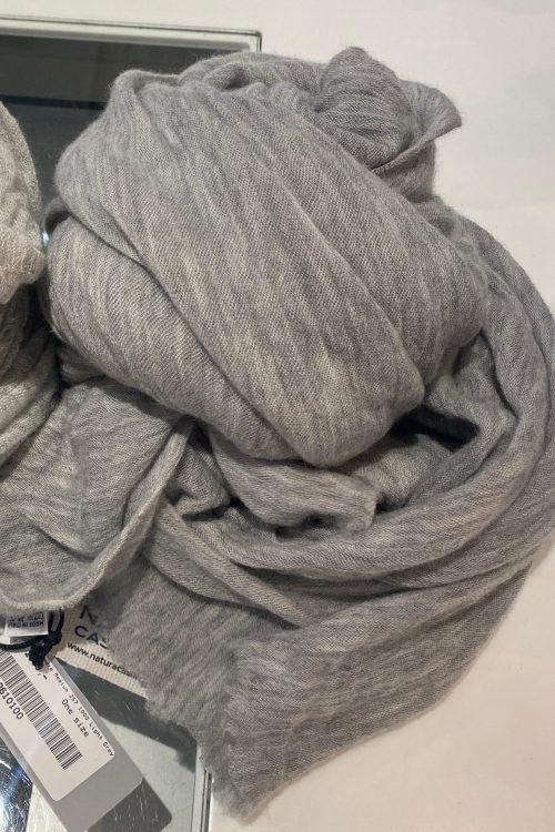 Light grey cashmere skjerf Natura Cashmere - luxury light grey