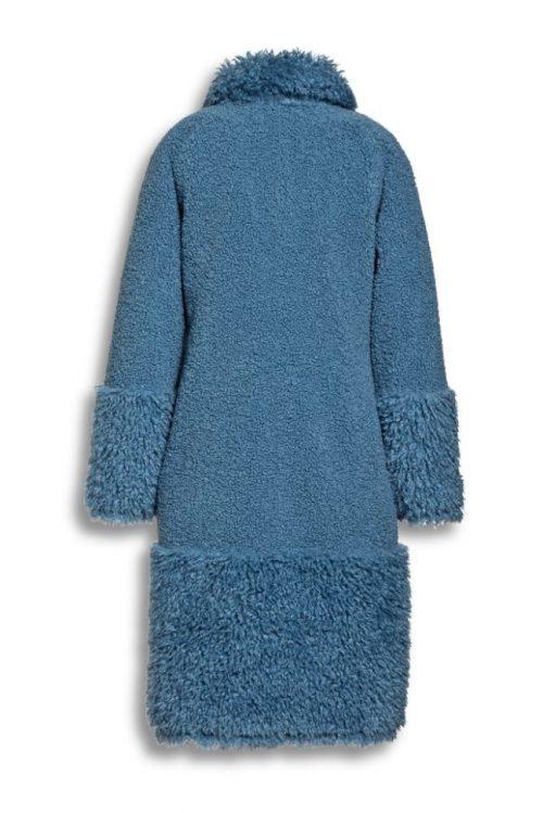 Smoke blue faux fur lammy kåpe Beaumont - BM5570203
