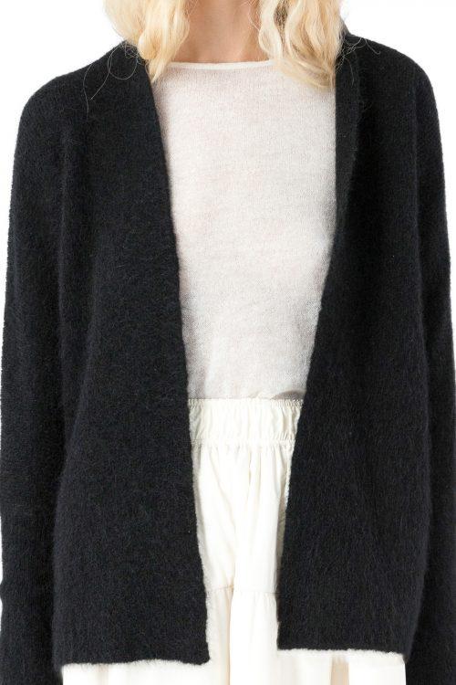 Sort eller indigoblå kid mohair cardigan Cathrine Hammel - 1562 soft short shawl cardigan
