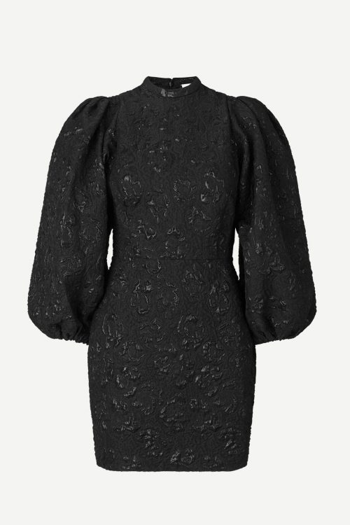 Dyp lilla eller sort trendy selskapskjole med partyfaktor Samsøe - 12905 harriet short dress
