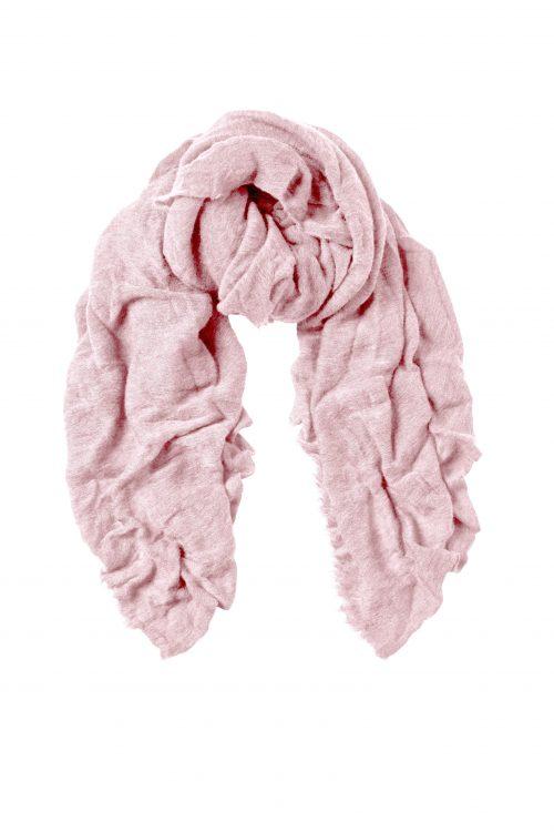 Light pink cashmere skjerf Natura Cashmere - luxury light pink
