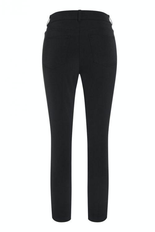 Sort techno bukse med bissel og glidelås Cambio - 611 0209-01 romie 29