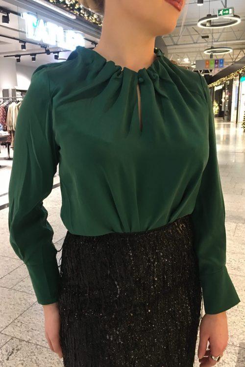 Smaragdgrønn silkebluse Amuse by Veslemøy - ada 62790