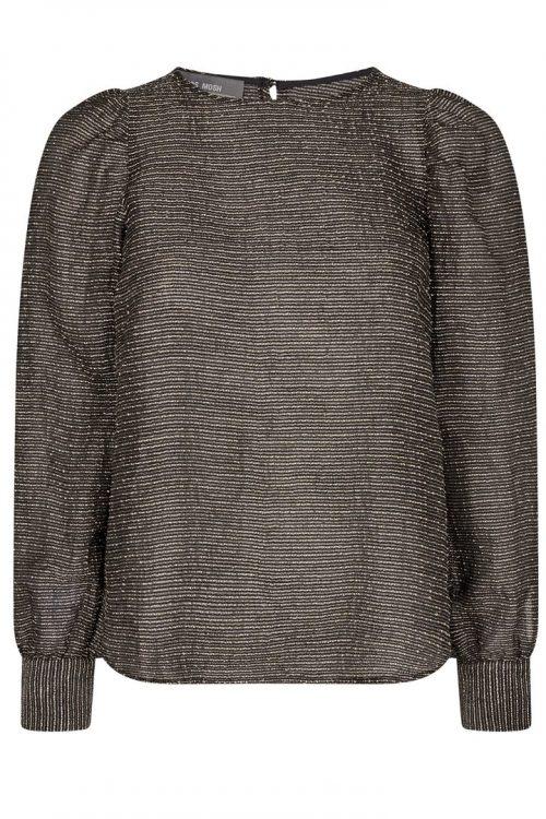 Gullsortskimret lurex blusetopp Mos Mosh - 136060 gigi lurex blouse