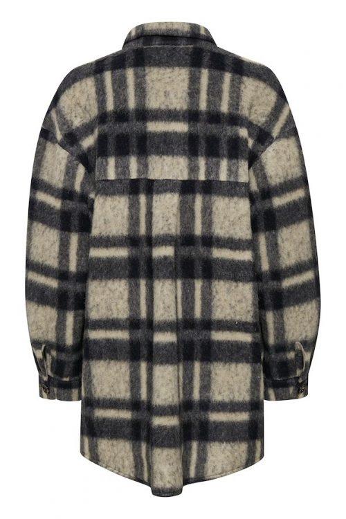 Salt/pepper check mohair/ull miks ytterjakke Gestuz - 10904773 rina shirt