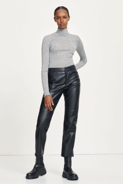 Sort fake cropped skinnbukse med rette ben Samsøe - Vestine trousers 13003