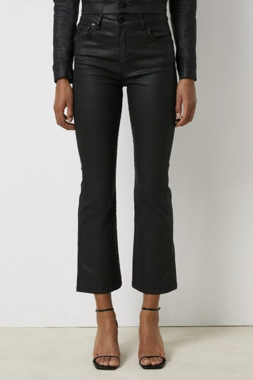 Sort coated 'Raval' kick flare bukse ('skinnbukse') Lois Jeans - Malena-F montana