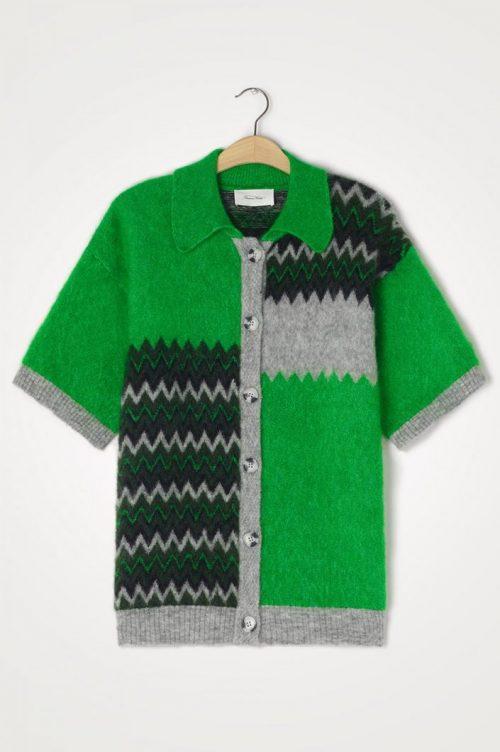 Jaquard grenville chin mønstret kid mohairmix cardigan American Vintage - Zabi 19b