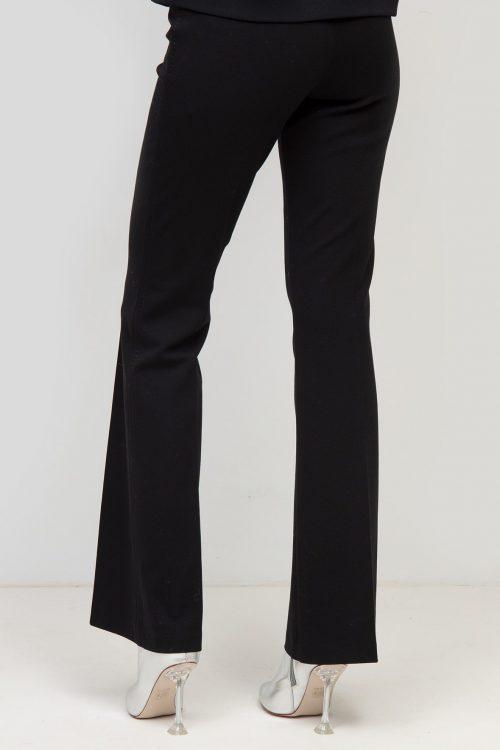 Sort stretch flare bukse Cambio - 6323 0350-04 ros flare